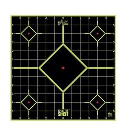 "Pro Shot Products Splatter Shot 12"" GREEN Sight-in Target Peel & Stick - 5 Qty Pack"