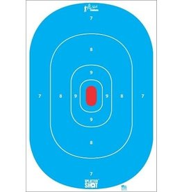 "Pro Shot Products 12""x18"" Blue Silhouette Insert Tag Paper Target - 8 pack"