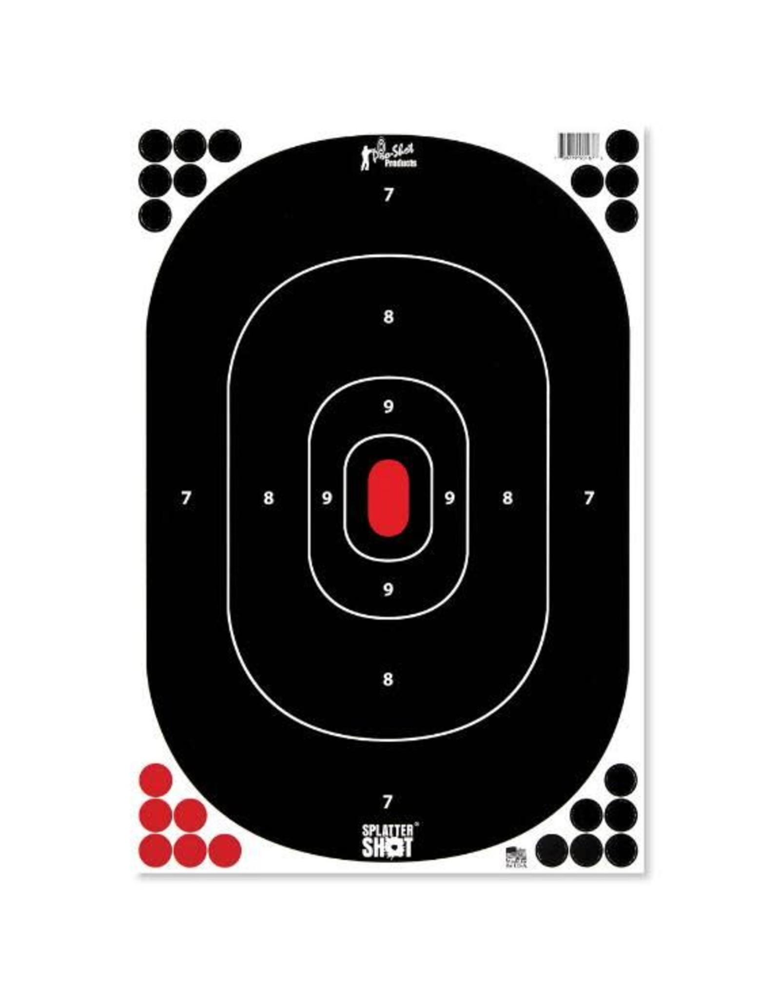 """Pro Shot Products 12""""x18"""" Silhouette Target Insert - Peel & Stick - 5 Qty pack"""