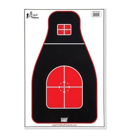 "Pro Shot Products 12""x18"" Tactical Precision Target - Red/Black Heavy Tag Paper - 8 pack"