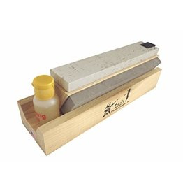 "Dan's Wet Stone 3-Sided Sharpening Stone with Oil (4"")"