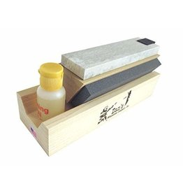"Dan's Wet Stone 3-Sided Sharpening Stone with Oil (6"")"