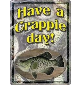 Rivers Edge Crappie Day Tin Sign