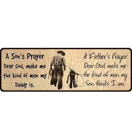 Rivers Edge Father/Son Prayer Sign