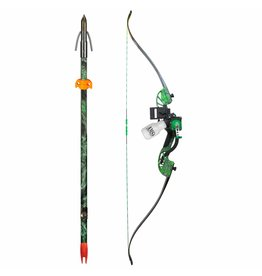 AMS Bowfishing AMS Water Moc Recurve Bow Kit Retriever Pro TNT Green 45# RH