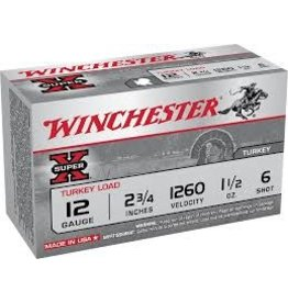 "WINCHESTER AMMO Winchester Super X Turkey Load 12ga  2'3/4"" 1'1/2oz #6"