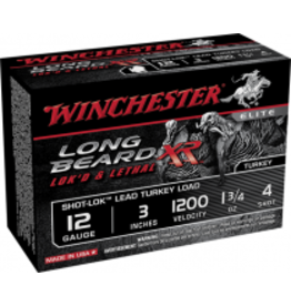"Winchester Winchester LONG BEARD XR 12 GA 3"" 1.75OZ. #4 TURKEY LOADS W/SHOT-LOK"