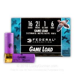 """Federal Federal 16 Gauge 2-3/4"""" #6 1oz"""