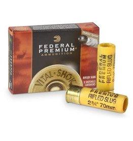 Federal Federal VITAL-SHOK 20GA Rifled Slug 2.75IN  3/4OZ HP 5RD/BX