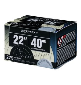 Federal Federal 22LR 40gr Lead Round Nose 275 rounds