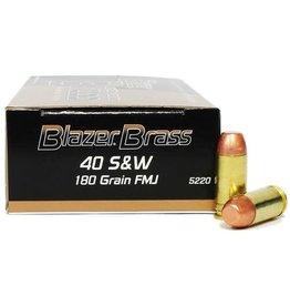 Blazer Ammunition Blazer Brass 40 Smith & Wesson 180Gr FMJ