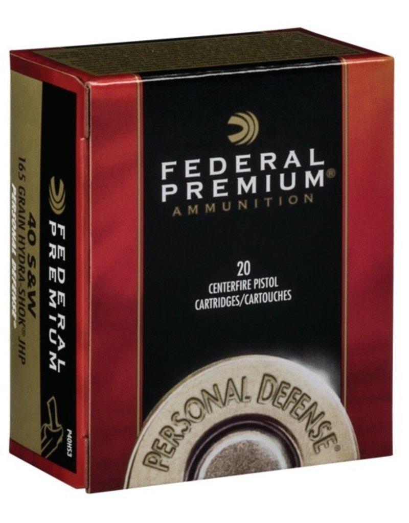 Federal Federal Premium 40 S&W 165 gr Hydra Shok JHP