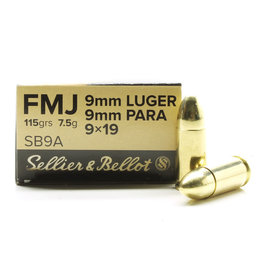 Sellier & Bellot Sellier and Bellot 9mm 115Gr FMJ