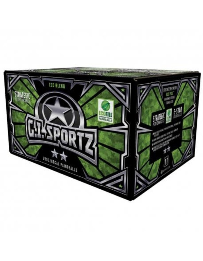 GI Sportz GI Sportz 2-Star Paintballs - 2000ct