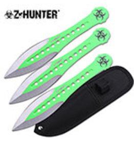 "Z Hunter Z HUNTER ZB-163-3GN THROWING KNIFE SET 7.5"" OVERALL"