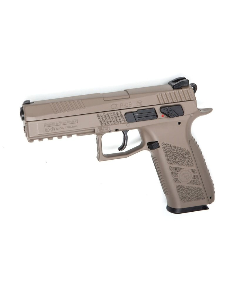 ASG Airguns CZ P-09 DT FDE Pellet/BB Gun with Blowback