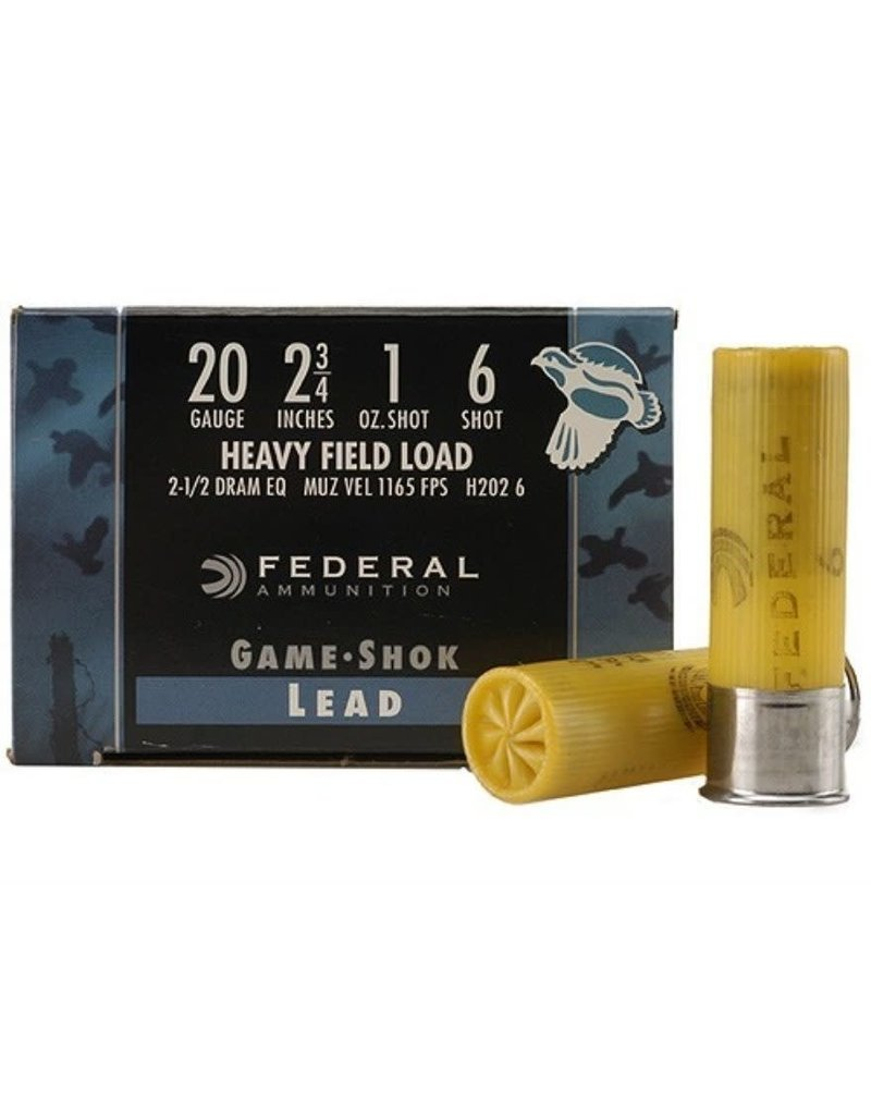 Federal Ammunition Federal Heavy Field Load 20Ga 2-3/4 1oz #6