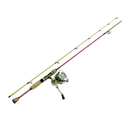 Eagle Claw Eagle Claw ECFSRT66MSC Fish Skins Spin Combo, No Line, 3BB + 1RB