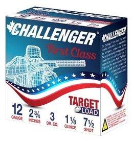 Challenger Challenger Ammo 40027 Handicap 4002 Shotshell 12 GA, 2-3/4 in, No. 7-1/2, 1-1/8 oz, 3 Dr, 1200 fps, 25 Rnd per Box