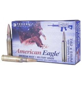 Federal Federal American Eagle 7.62x51 149GR FMJ BT M80