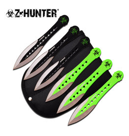"Z-Hunter Z HUNTER ZB-163-6 THROWING KNIFE SET 6"" OVERALL, 6 PIECE SET"