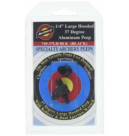 "Specialty Archery Specialty Super Peep 37 degrees 1/4"" giant hooded housing"