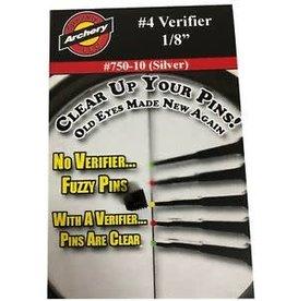 "SPECIALTY ARCHERY LLC S&S 1/8"" Verifier Peep #4 Silver"
