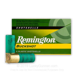 "Remington Remington Buckshot 12 GA, 2 3/4"", 00B, 9 Pellets 5-pack"