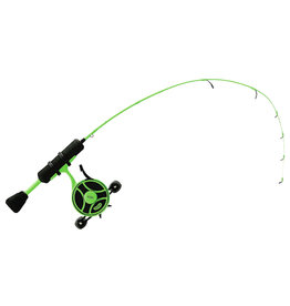 "13 Fishing 13 Fishing - Radioactive Pickle Ice Combo - 25"" UL - FreeFall Ghost ww/ New Line Window + Tickle Stick (Reel Seat) - Left Handed"