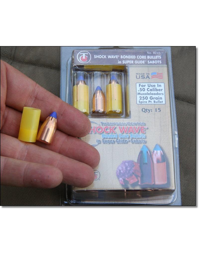THOMPSON CENTER - ACCESSORIES 50 cal Shockwave 250 gr sg bonded