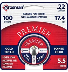Crosman Crosman GTP22 Premier Gold Tipped .22 Pellets 100ct