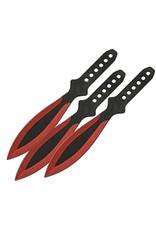 "China Made Throwing Knife Set - Red 9"""