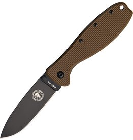 "ESEE ESEE - Zancudo Framelock Coyote Brown 3"" stonewash finish AUS-8A stainless blade"