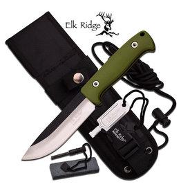 """Elk Ridge Elk Ridge ER-555GN FIXED BLADE KNIFE 10.5"""" OVERALL"""
