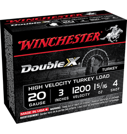 """Winchester WINCHESTER DOUBLE X 20 GAUGE 3"""" #4 TURKEY LOAD"""