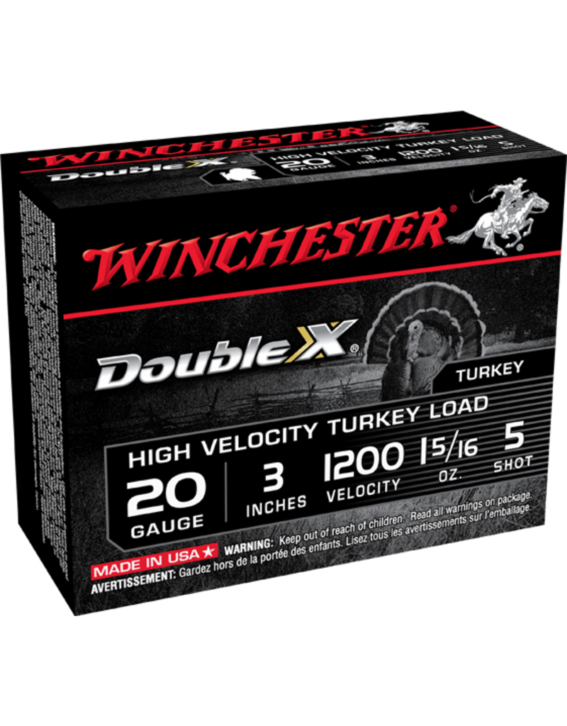 "Winchester Winchester Double X 20GA 3"" #5 High Velocity Turkey Load"