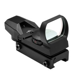 NcSTAR NcSTAR RED & GREEN DOT REFLEX SIGHT /4 DIFFERENT RETICLES/WEAVER BASE/BLACK