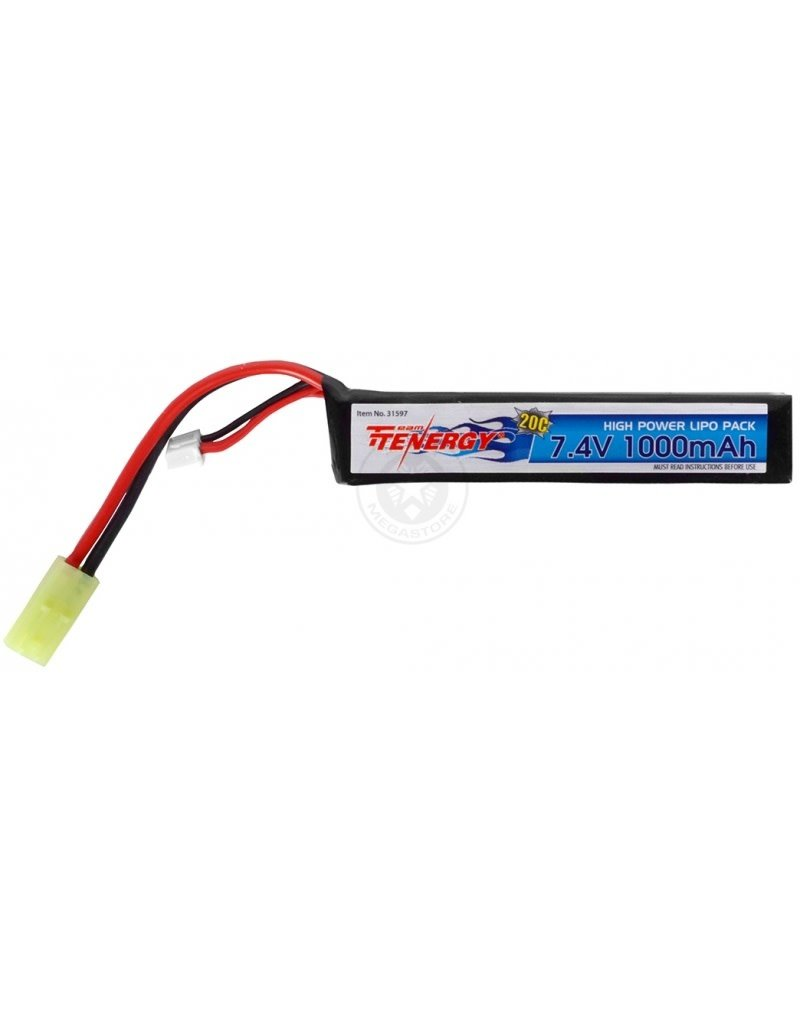 Team Tenergy Tenergy 7.4v 1000mAh Battery Li-Pro butterfly Pack