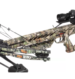 """Wildgame Innovations Wildgame XB370 Compound Crossbow, Quiver, 2-20"""" Arrows, RCD & 4x32 Scope - Elude Camo -"""