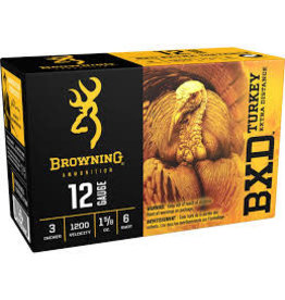 "Browning BROWNING BXD 12 GA. 3"" 1.5/8 OZ #6 TURKEY AMMO"