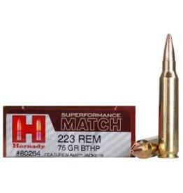 Hornady Hornady 80264 Superformance Match Rifle Ammo 223 REM, BTHP, 75 Grains
