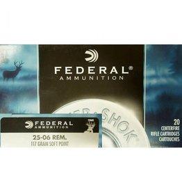 Federal FEDERAL AMMUNITION POWER-SHOK 25-06 REM 117GR SP 20/BX