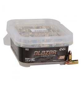 CCI CCI Blazer 9mm LUGER 115gr FMJ 250rd