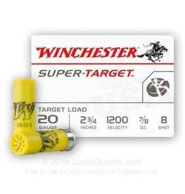 "Winchester Winchester 20GA Super Target 20GA 2.75"" 7/8oz 8 Shot"