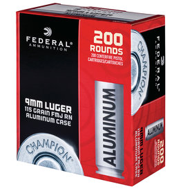 Federal FEDERAL 9MM 200 ROUNDS 115 GRAIN FMJ