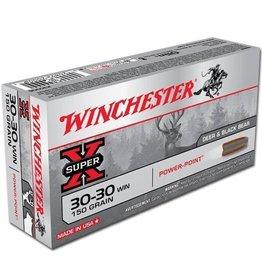 Winchester WINCHESTER SUPER-X AMMO 30-30 WIN 150GR POWER-POINT DEER & BLACK BEAR 20/BX