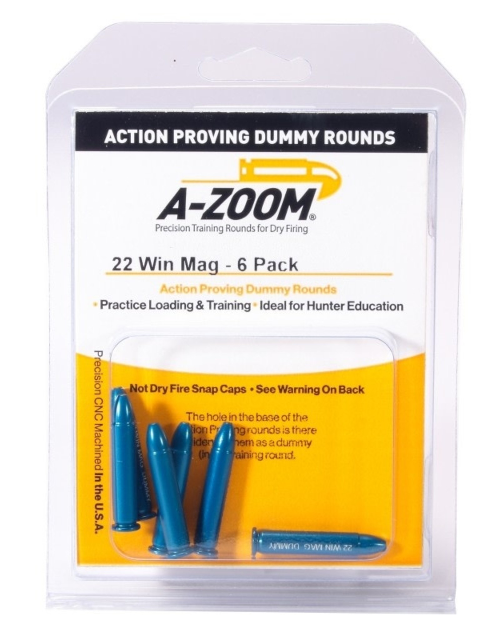 A-ZOOM A-ZOOM 12204 TRAINING ROUNDS 22 WMR 6pk