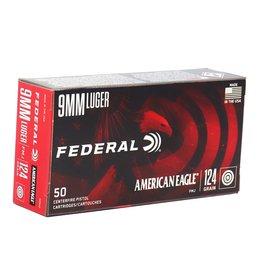 Federal American Eagle 9mm 124Gr FMJ