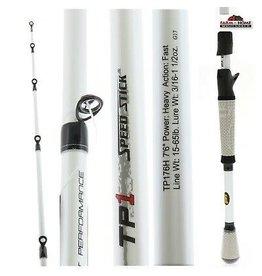 """Lew's Lew's Tournament Performance TP1 Speed Stick Cast Rod, 7' 3"""", 1 Pc, Mod, Med Hvy, 1/2-1 3/8 oz Lures"""
