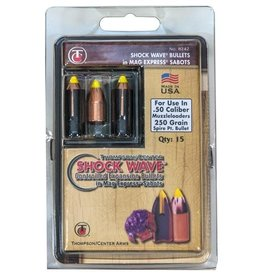 Thompson Center Thompson Center Shockwave 50 cal Bullets 250gr Spire Point Controlled Expansion Bullets in Mag Express Sabots 15ct